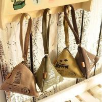 铁塔个性创意复古粽子零钱包迷你帆布艺韩国可爱硬币包钥匙包