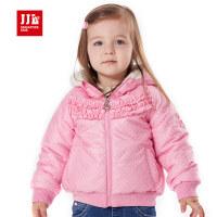 jjlkids季季乐女童棉衣童装冬季厚款棉袄儿童波点棉服外套PGDA51070