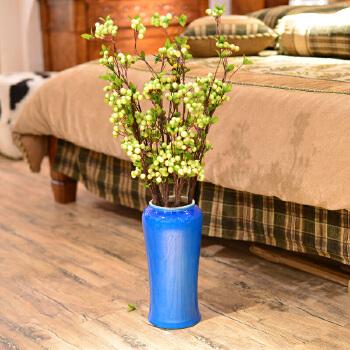落地大花瓶 摆件创意客厅软装饰品欧式仿真花艺套装