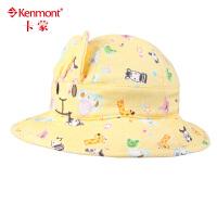 kenmont婴儿帽子纯棉春夏遮阳帽 户外婴儿防晒帽 可爱卡通帽儿童帽子4874