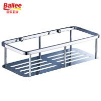 【货到付款】贝乐BALLEE浴室卫浴挂进 单层方形加长不锈钢网篮 不锈钢多用置物架 不锈钢角架 TL001-3