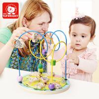 特宝儿 喜洋洋与灰太狼绕珠玩具 木制益智儿童多功能绕珠串珠儿童玩具