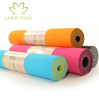 Laieryoga 来尔 无味TPE瑜伽垫 加长双面双色 瑜珈垫 健身垫 防滑 天然橡胶垫