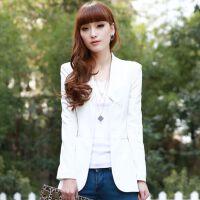 2015装新款韩版女士大码时尚显瘦白色气质百搭小西装KC 支持货到付款 满额减