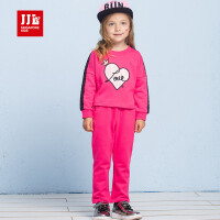 jjlkids季季乐童装女童秋季套装童装中小童童休闲运动套装 GCZ63038