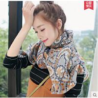文艺棉麻披肩围巾两用 新款韩国韩版学生长款百变丝巾女士
