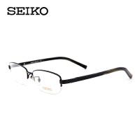 精工纯钛镜架男士商务半框眼镜架配近视 男士超轻眼镜框H01118