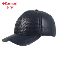 Kenmont帽子 棒球帽 中老年保暖帽男士韩版潮羊皮帽2232