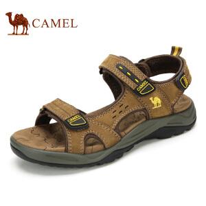camel骆驼男鞋 牛皮凉鞋 男沙滩鞋 凉爽透气休闲鞋