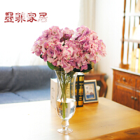 墨菲 法式浪漫清新大绣球花 欧式田园客厅茶几落地花卉摆件仿真花