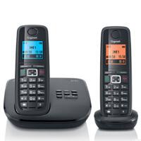 集怡嘉(Gigaset SIEMENS)【西门子】 E710A套装 数字答录无绳电话机 德国制造 带答录 通话 录音功能前白后黑