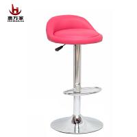 惠万家时尚吧台椅创意电脑椅子家用休闲可升降靠背转椅美甲椅高椅子小帽子