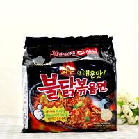 韩国进口方便面三养火鸡面炒面5连包速食泡面拉面超辣鸡肉味干拌面食品