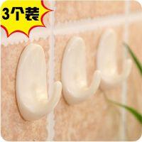 椭圆强力粘钩3个装 厨房浴室多用无痕免钉粘胶挂钩