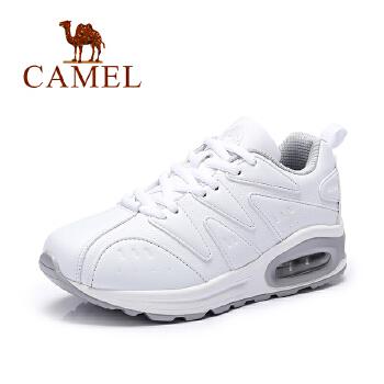 Camel/骆驼女鞋 2016秋季新品 舒适跑鞋 时尚气垫运动女鞋