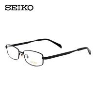精工纯钛全框镜架 超轻男士眼镜架 简约大气镜框 配近视H01115
