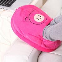 春笑牌 USB可拆洗暖脚宝USB保暖鞋 电暖宝 暖宝宝 保温鞋 玫红宝宝2606