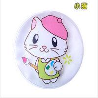 神奇免充电自动发热暖手袋/热宝 电暖宝 暖手宝 保温袋 圆形小猫咪