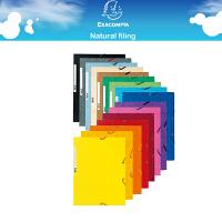 法国 Exacompta 400G纸板A4橡筋文件夹 文件管理 可装约200张A4纸