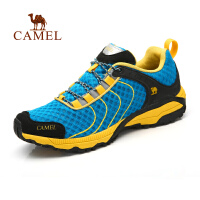 Camel骆驼户外徒步鞋 男女情侣新款系带网布透气低帮徒步鞋