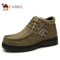 camel骆驼  冬季新款男靴牛皮日常休闲短筒皮靴