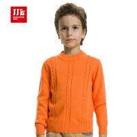 jjlkids季季乐男童毛衣中大儿童柔软舒适冬装针织衫毛线衣童装 BQM52001