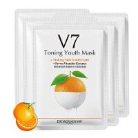 泊泉雅 V7隐形面膜-5片 香橙维他熬夜醒肤水光素颜面膜