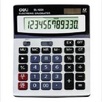 经济型得力太阳能计算器1654 金属面板计算器 耐磨 12位数