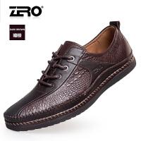 零度尚品新品男鞋男士休闲皮鞋鳄鱼纹软底舒适休闲鞋F9946