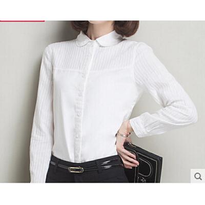 【佑蒙开衫/卫衣/针织衫】女装长袖白衬衫新款修身衫.