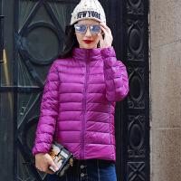 2017女士秋冬新款轻薄短款羽绒服外套特惠