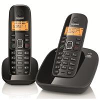 Gigaset 集怡嘉 西门子A180数字无绳电话套装 子母机  黑色