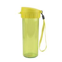 特百惠茶韵随心杯塑料水杯便携防漏水杯380ML柠黄绿送杯刷