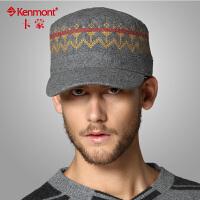kenmont男士棒球帽 时尚韩版潮鸭舌帽 男士平顶军帽1449