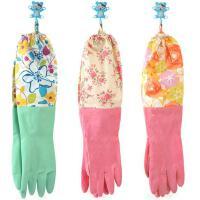 纤诗洁MB053花袖加绒防水保暖家务乳胶手套 厨房洗碗清洗手套