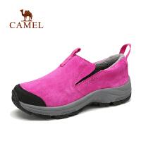 Camel 骆驼 户外女徒步鞋  秋冬新款女士轻便透气绒里徒步鞋