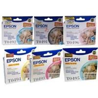 爱普生(Epson)T0491 六色墨盒套装 C13T049180(适用Photo RX230/R210/310 )
