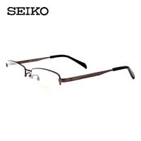 精工纯钛半框超轻镜架男士镜架 配近视商务简约眼镜架H01116