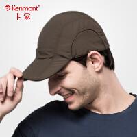 帽子男士夏天遮阳帽kenmont骑车防晒帽防紫外线韩版潮棒球帽0527