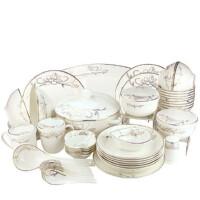 Brocade/锦 骨质瓷48头荷塘月色中餐具 10人份餐具套装 陶瓷