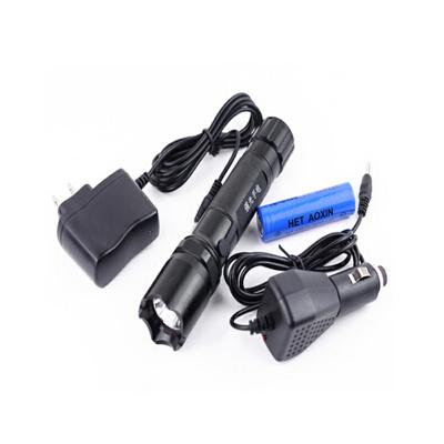 强光手电筒 带指南针 手电 充电手电