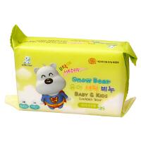 小白熊 韩国进口婴儿洗衣皂尿布皂200gBB肥皂儿童肥皂宝宝洗衣皂(洋槐香)