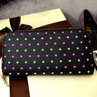 新款钱包女长款拉链钱夹韩版时尚手包两折横款多功能钱夹潮B2147