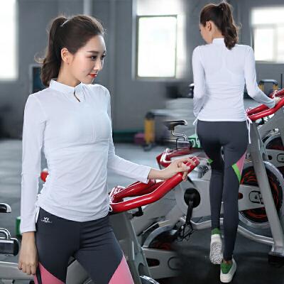 慕柏郦 瑜珈服 新款 瑜伽服 健身服 修身愈加服 跑步服 跳操服 两件套精致镂空小圆领设计