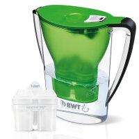 【支持货到付款】倍世 德国BWT 厨房家用净水壶 直饮便携户外滤水壶 过滤净水杯2.7升 绿色