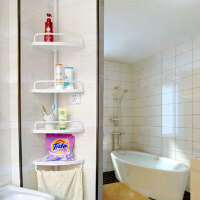 双庆 1908顶天立地伸缩卫浴室角架 置物架三角架厕所转角架