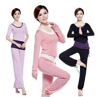 梵歌纳爆款 瑜伽服套装 广场舞蹈服 女高弹舒适 健身服 跳操服 瑜珈服三件套 含胸垫