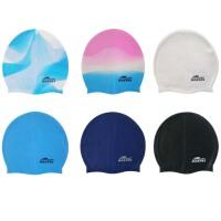 简装硅胶泳帽 硅胶游泳帽防水 纯色 渐变色 多色可选