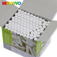 韩国MUNGYO 白色无尘无毒粉笔 100支装黑板粉笔 盟友儿童无尘粉笔