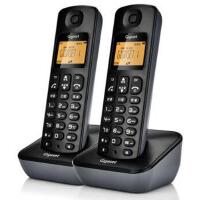 集怡嘉 A190L 套装 星际黑 Gigaset原西门子品牌电话机A190L数字无绳电话一拖一中文显示双免提屏幕背光家用办公座机子母机套装(星际黑)